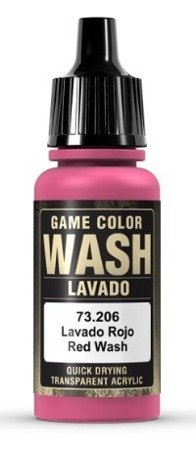 Game Color Wash  Red 73206