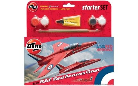 Raf Red Arrows Gnat zestaw